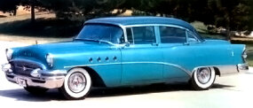 The $3,349 1955 Buick Roadmaster four-door sedan boasted updated styling.