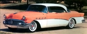 The 1956 lineup boasted its first Roadmaster Riviera hardtop sedan: $3,692, 24,779 built.