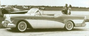 The 1957 Roadmaster series 70 ragtop cost $4,066; 4,363 were built.