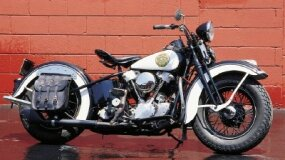 A real piece of Americana: a 1936 Harley-Davidson