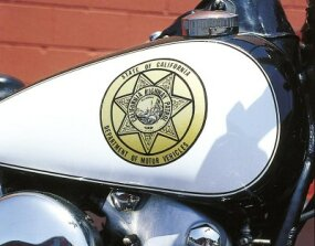 The EL proudly wears its California Highway Patrol badge.
