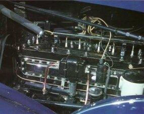 A look at the 1936 Pierce-Arrow Eight Model 1601 Sedan's engine.
