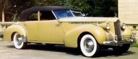 The 1940 Darrin Convertible Sedan was judged the best-looking of the three Packard Darrin models listed for the year by Packard authority Warren Fitzgerald.
