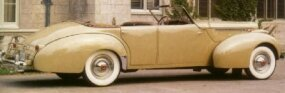 At the time, semi-custom Packard Darrins were quite expensive, like this 1940 Darrin Convertible Sedan, listed at a breathtaking $6332.