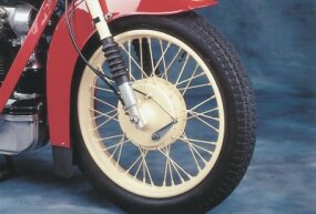 Telescopic forks were unusual, and rather advanced, for the 1930s.