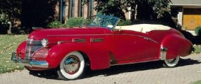 This 1940 Cadillac Series 62 convertible sports a custom body by renowned coachbuilder Bohman & Schwartz.