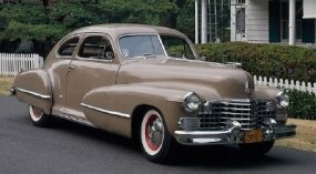 Bullet-shape fenders were one of the highlights of the 1942 lineup, which included this 1942 Cadillac Series 61 coupe.