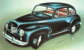 The only 1940s Willys 6/66 concept car body style to make it to prototype form was the sedan. The 6/66 name referred to the proposed $666 retail price.