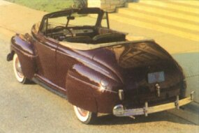 The 1941 Ford convertible came only as a Super DeLuxe.