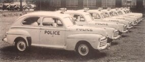 Many early postwar Fords were sent to fleets, such as police departments.