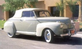 At $946, the 1941 Super DeLuxe ragtop was a bit pricier -- and flashier -- than the Tudor.