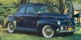 Among the production 1941 Fords was the $807 Super DeLuxe five-passenger coupe.