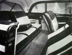 The 1950 Town & Country Newport offered vast interior space front and rear.