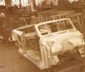 Construction of the Town & Country convertible involved a lot of time-consuming hand labor.