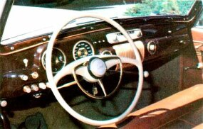 Even the Continental's dash was highly refined.