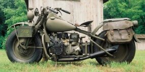 The Harley-Davidson XA model was specially designed for desert warfare but was never used in combat.