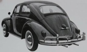 In the Bug's biggest appearance change yet, the 1958 Volkswagen Beetle introduced a larger, rectangular rear window.