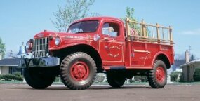 This 1948 Dodge Power Wagon was made a fire truck.