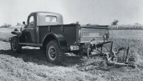 This Dodge Power Wagon photographed in July 1950 sported a mower.