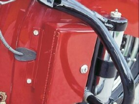 An attached locking toolbox was a popular accessory of the day.