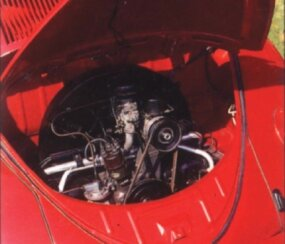 The rear-mounted engine produced just 25 horsepower.