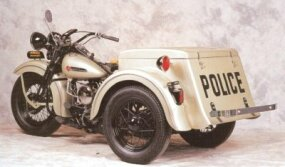 Harley-Davidson Servi-Cars were often used by police departments to help with parking enforcement.