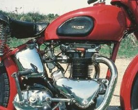 By the mid-1960s, the Triumph's engine and in the 1947 model, they are still separate.