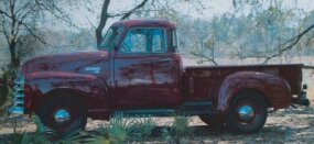 The 1948-1953 Chevrolet Deluxe Cab Series 3100 half-ton pickup had rear-corner windows that increased visibility. Pictured here is a 1953 model.