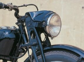 The Harley-davidson S-125's girder-style front fork was part of the original German DKW design.