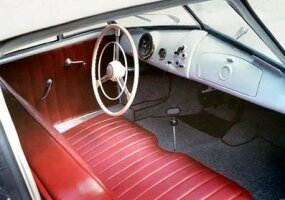 The 356/2's interior was simple but effective.