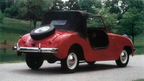 Through 1950, Crosley roadsters were furnished with four-wheel Goodyear-Hawley disc brakes.