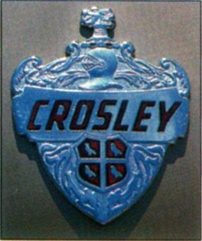 The Crosley emblem is a reminder of this bygone classic.