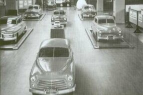 Bob Gregorie's proposed 1948 designs as of June 6, 1945, included a large Ford (far right).