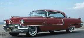 The 1956 Cadillac Sedan de Ville was the luxury carmaker's first four-door hardtop.