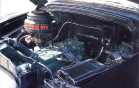 The 257-cubic-inch six-cylinder engine was good for 105 horsepower.