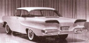 This clay model from August 1955 is very close to what the first production Edsel would look like when it hit showrooms in late 1957 as a 1958 model.