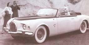 The 1952 Chrysler C-200 concept car was a convertible companion to the K-310 coupe.