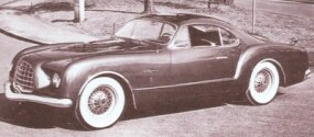 The essential shape of the Ghia-built 1953 Chrysler D'Elegance concept car was later scaled down and adapted for the Volkswagen Karmann-Ghia.