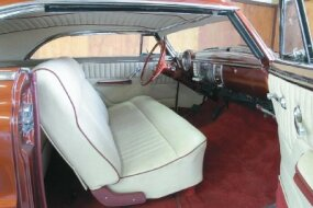 Bob Sipes stitched up a more traditional white tuck-and-roll interior for current owner Jack Walker.