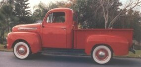 A revised 239-cubic-inch flathead V-8 boosted the 1951 Ford pickup's output by 10 horsepower, to 110.