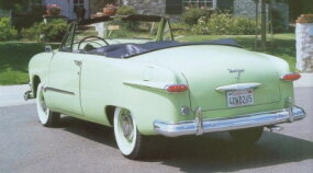 """Options on this particular automobile included overdrive, a radio, and a """"Magic Air"""" heater."""
