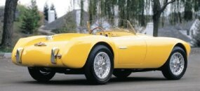 The sporty 1952 Siata 208S Spyder was a popular choice among race car drivers.