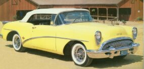 The 1954 Buick Skylark shared its 122-inch wheelbase with the reincarnated 1954 Century.