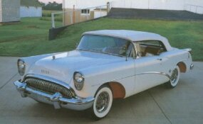 The 1954 Buick Skylark cost more than a Cadillac Series Sixty-Two ragtop but was more distinctive.
