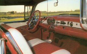 The interior of the 1954 Skylark was plushly trimmed, but in most respects it resembled a standard Buick.