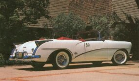 The 1954 Skylark is today a rare and valuable collectible auto.