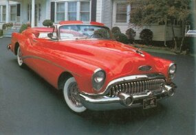 The Skylark was officially a Series 70 Roadmaster, which was duly noted on the front bumper.
