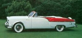 Two-tone paint and lowered rear-wheel cutouts spruced up the 1954 model.
