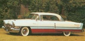 White over blue over metallic copper was a popular color scheme for the 1956 Caribbean.
