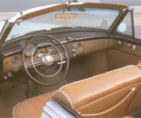 The Super was Buick's mid-range series, but the interior of the Super convertible was inviting enough.